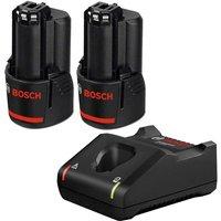 2 x Bosch 12v / 10.8v Lithium Ion 2.0ah Battery for GSR GDR & GAL 12V-40 Charger