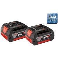 2 x Bosch 18v 4.0Ah Li-ion Genuine Batteries Lithium Ion Cordless 4ah Cool Pack