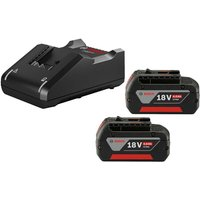 2 X Bosch 18v 4Ah Li-ion Coolpack Batteries Lithium Ion + GAL18V40 Fast Charger