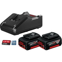 2 X Bosch 18v 5Ah Li-ion COOLPACK Batteries Lithium Ion + GAL18V40 Fast Charger