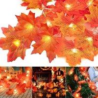 20 LED Maple Fairy Lights 3m Fall Garland, Fall, Fall Decor, Maple Leaf, Fall Decor, Halloween Decor, Thanksgiving, Christmas, Balcony, Patio, Living