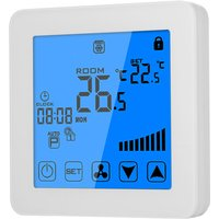 Asupermall - 200-230V Programmable Thermostat Air Conditioner 2-pipe 4-pipe Temperature Controller LCD Touch Screen Air Heating Condition Temp