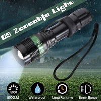 Mohoo - 20000LM Rechargeable LED Flashlight Zoomable Torch Light 18650 Light for Outdoor Night Light
