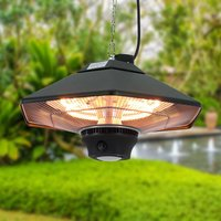 2000W Hanging Garden Infrared Electric Patio Heater Light with Remote