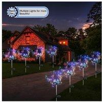 2021 fireworks solar Multicolor 120 LED lights