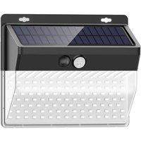 206LED Solar Powered Wall Light PIR Motion Sensor Lights Outdoor Waterproof Garden Lamp Night Light 3 Light Modes for Garden Patio Yard Fence