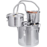 20Litres 5Gallon Moonshine Still Spirits Water Alcohol Distiller +304 Stainless Steel Boiler+Tube Kit