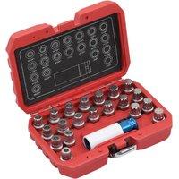 Betterlifegb - 21 Piece Rim Lock Socket Set for BMW9018-Serial number