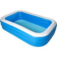 Kingso - 2.6m Large Inflatable Swimming Pool Outdoor Summer Home Garden Children Amusement Paddling Pool