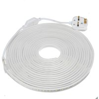 220V 240V LED Strip Lights Rope 5050 SMD Garden Kitchen Decking Waterproof 8M white
