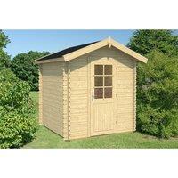 Clifton Log Cabins - 2.2m x 2.2m Budget Apex Log Cabin (219) - Single Glazing (28mm Wall Thickness)