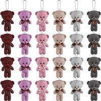 24 Pieces Mini Plush Bear Tiny Bear Toy 4.7 Inch 2021 Graduation Stuffed Mini Jointed Bear Colorful Soft Bear Doll for DIY Keychain Graduation