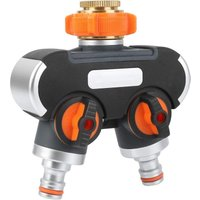 2/4 Way, 3/4 and 1/2 Distributor with Tap Adapter, Suitable for Garden Irrigation and Garden Hose