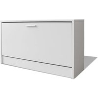 Shoe Storage Bench White 80x24x45 cm - VIDAXL