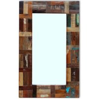 Mirror Solid Reclaimed Wood 80x50 cm - VIDAXL