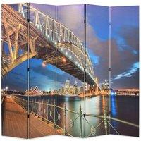 Folding Room Divider 200x170 cm Sydney Harbour Bridge - Multicolour - Vidaxl