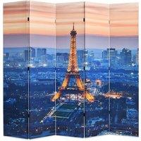 Folding Room Divider 200x170 cm Paris by Night - VIDAXL