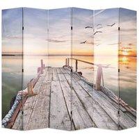 Folding Room Divider 228x170 cm Lake - VIDAXL