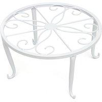 24Cm Modern Metal Holder For Flowerpot Deco Garden Table White