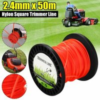 2.4mm Nylon Mowing Round / Square Line Brush Cutter Edger Wire Lawn Mower Long Head Roller Mowing Wire