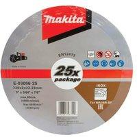 25 x Makita E-03006 Cutting Cut Off Wheels 230mm 9