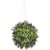25CM Topiary Ball Artificial Lavender Flower Hanging Plants