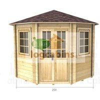 Abingdon - 2.5m x 2.5m Log Cabin (2036) - Double Glazing (44mm Wall Thickness)