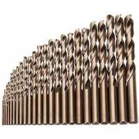 Drillpro - 25pcs 1-13mm HSS M35 Cobalt Twist Drill Bit for Metal Wood Drilling