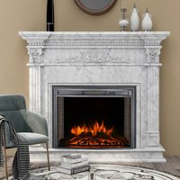 Electric Insert Heater Fireplace 3 Flame Colours with Remote Control