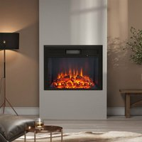 26 Inch LED Brick Frame Inset Wall Electric Fireplace