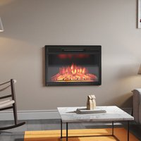 28 inch Electric Insert Heater Fireplace 3 Flame Colours with Remote Control