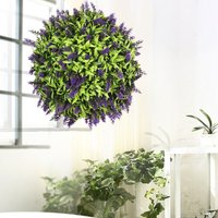 28CM Topiary Ball Artificial Lavender Flower Hanging Plants