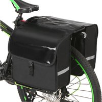 Asupermall - 28L Water Resistant Bicycle Rear Seat Carrier Bag Rack Trunk Bags Bike Commuter Bag Pannier,model:Black