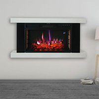 2KW Large LED Standing Electric Fireplace 7 Flame Colours with Remote Control