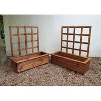 2pc Large Kensington (Trellis) Trough Set - Fully Assembled - CHARLES TAYLOR
