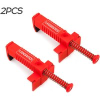 Asupermall - 2PCS Brick Clamps Clamps Brick Liner Runner Wire Drawer Bricklaying Tool Fixer for Building Construction,model:Red