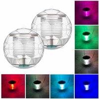 Zqyrlar - 2pcs Solar Waterproof Pool Lights Floating Night Light with Color Changing for Swimming Pool Pond Fountain Garden Party Home Decor,