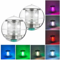 Zqyrlar - 2pcs Solar Waterproof Pool Lights Floating Night Light with Color Changing for Swimming Pool Pond Fountain Garden Party Home Decor, round