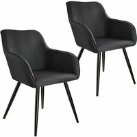 2x Accent Chair Marylin - black - schwarz - TECTAKE