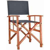 Chaise de Jardin « Cannes » - différentes couleurs - pliable - bois d'eucalyptus certifié FSC - pré-huilé - design régisseur - Fauteuil Anthracite