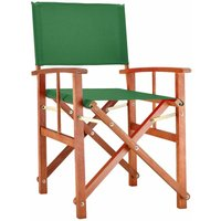 DEUBA - Chaise de Jardin « Cannes » - différentes couleurs - pliable - bois d'eucalyptus certifié FSC - pré-huilé - design régisseur - Fauteuil Vert