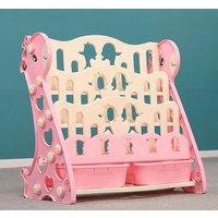 Lbtn - 3/4 Tier Kids Shelf, Bookcase, Magazine Rack, Organizer, Shelf, Display Rack (Pink, 4 Tier)