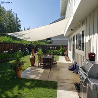 3 × 5 m Rectangular Shade Sail, UV Protection, Suitable for Garden, Yard, Waterproof Awning with Carry Bag, Milky White