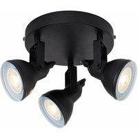 3-bulb spot focus projector - black