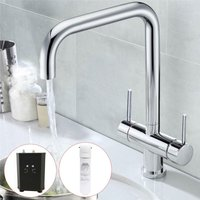 3 in 1 Instant Boiling Water Hot Cold Water Twin Lever Kitchen Tap Filter and Tank