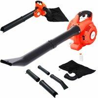 3-in-1 Petrol Leaf Blower 26 cc Orange - Orange - Vidaxl