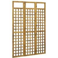 3-Panel Room Divider/Trellis Solid Acacia Wood 120x170 cm - Brown - Vidaxl