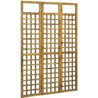 3-Panel Room Divider/Trellis Solid Acacia Wood 120x170 cm - Brown