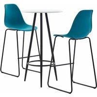 Bar Set Plastic Turquoise 3 Piece - Turquoise - Vidaxl
