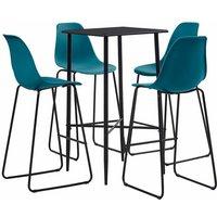 vidaXL Bar Set Plastic Turquoise 5 Piece - Turquoise